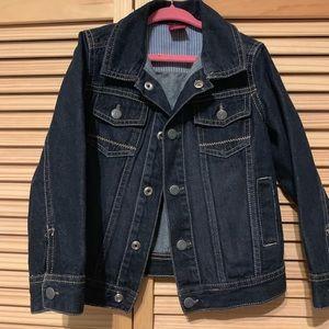 Dark blue denim kids jacket